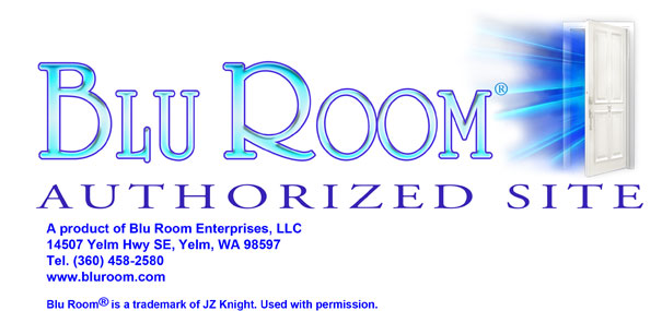 Blu RoomTM logo with door